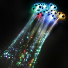 1/6 Color Changing Fiber Optic Sparkle Glow LED Extension Hair Clips Party Light
