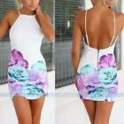 New Womens Summer Sexy Floral Party Cocktail Evening Bandage Bodycon Mini Dress