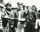 Baseball NY Yankees Babe Ruth & Lou Gehrig posing NYPD and FDNY Photo Picture