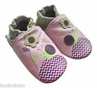 Baby Girl's Toddler Lilac Snail & Flower Rose et Chocolat Leather Pram Shoe