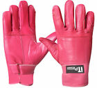 Ladies Leather Riding Gloves Soft Driving Wheel Chair Gloves Pink