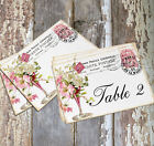 DOUBLE or SINGLE SIDED FRENCH FLOWER VASE WEDDING TABLE CARDS or SIGNS #480