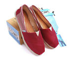 [TOMS] Womens Toms Classic Slip On Red University Flats, Ladies Pumps