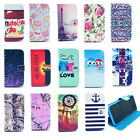 New Present Leather Flip Case Cover with Card Slot For Samsung Galaxy Phone CAH4