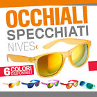 OCCHIALI DA SOLE SPECCHIATI colorati vintage estate unisex surf cool party