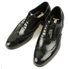 Mooda Oxford Wing Tip Balmoral Genuine Leather Mens Dress Shoes MDOXFD Black
