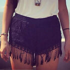 Women Sexy Lace Hollow Out High Waist Short Vintage Summer Trendy Shorts ukef