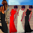 Womens Sexy Backless Prom Ball Gown Wedding Long Evening Party Dress FO UK 08
