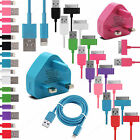 Brand New Sync & Charger Usb Data Cable Wall Plug For Iphone 8/6/5/3/4 Ipod/ipad