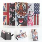 "NEW Tiger Painted Leather Case Cover Skin For 4.5"" Lenovo A328 A328t Smartphone"