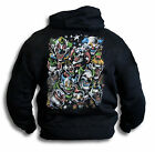 Evil Psycho Circus Clowns Mens Womens Black Hoody Hooded Top Sm - 2XL