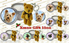 DOG BREED CANDLE AND TEDDY KEYRING GIFT SET IDEAL XMAS GIFT IDEA