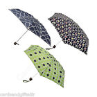 Fulton Orla Kiely Tiny 2 Folding Compact Umbrella Wallflower Linear Daisy Stem