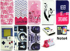 New Present PU Leather Flip Case Cover & Card Slot for Samsung Galaxy Note 4