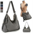 WOMEN'S HANDBAG CONVERTIBLE SATCHEL SHOULDER CROSS BAG REAL COWHIDE LEATHER