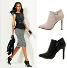 Womens Studded Rivet Pointed Toe Stilettos High Heel  Ankle Boots Party Shoes