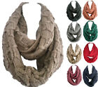 Women Winter Warm Infinity Circle Cable Knit Cowl Neck Long Scarf Shawl Wrap Hot