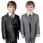 Boys Suits 5 Piece Suit Waistcoat Suit Wedding Party Formal Baby Page Boy Suit