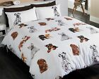 Dogs Duvet Set Cute Puppy Dog Quilt Cover Pillow Case Bed Linen Double Bedroom