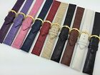 20mm Black White Brown Beige Red Blue Pink Purple Genuine Leather Watch Band 20R