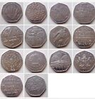 Rare 50p Various Collectable 50 Pence Circulated Coin Hunt