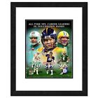 NFL All-Time Leaders in TD Passes Composite Framed Photograph