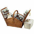 Picnic at Ascot Huntsman Picnic Basket for 4