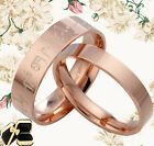 Men Women Rose Gold Titanium Wedding Rings GMUS085B2