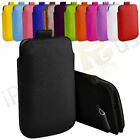 Small Premium PU Leather Pull Tab Case Cover Pouch For Alcatel 2001