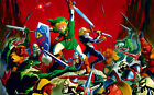 """025 The Legend of Zelda - 25th Anniversary Ocarina of Time Game Poster 21""""x13"""""""