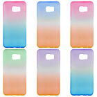 Slim Soft TPU Silicone Clear Ombre Case Cover For Samsung Galaxy S6 Edge + Plus