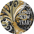 Pack of 8 Happy New Year Bubbly  9'' Plates - New Year Party Decorations