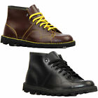 NEW MOD RETRO MENS MONKEY BOOTS OXBLOOD LEATHER Seventies 70s Skin B430BD W2