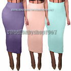 Sexy Womens Casual Club Celebrity Tube Slim Fitted Pencil Long Midi Skirts Dress