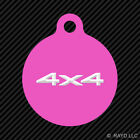 4x4 Keychain Round with Tab dog engraved many colors truck off road #2