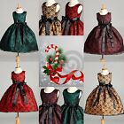 Black LACE Christmas Dress S M L XL 2 4 6 8 10 12 14 Flower Girl Toddler Fall 34