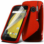 S Line Wave Gel Silicone Case Cover For Motorola Moto E2