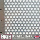 5mm Hole x 7mm Pitch x 1mm Thickness Galvanised Steel Perforated Mesh Sheet