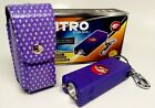Cheetah Stun Gun HIGH POWERED Volt Rechargeable W LED Light Bling Leather case