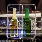 3D Wine Bottle Clear Hard Dynamic Liquid Quicksand Case Cover For iPhone 6/6s