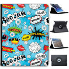 Comic Action Bubble Adjective Wallpaper Folio Cover Leather Case For Apple iPad