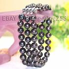 s051 3 rows AA 8-9mm 9-10mm Black White Pink Fresh Water Akoya Pearl Bracelets