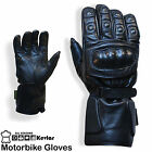 Motorbike Leather Gloves Protected Knuckle All Season Wear Motorcycle