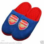 OFFICIAL LICENSED ARSENAL FC GAME SLIPPERS ADULTS & BOYS CHOICE OF SIZES MULES