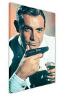 JAMES BOND AND MARTINI ON CANVAS WALL PICTURES MOVIE POSTER SEAN CONNERY PRINTS £14.99 GBP on eBay