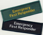 Emergency First Responder Badge Patch Flash Black or Green 7.5cm x 2.3cm