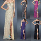 Sequins Charming Long Bridesmaid Dress Evening Dresses Party Ball Gown size 6-16