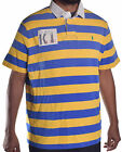 Ralph Lauren Men's Yellow Blue Stripe Custom Fit Rugby Polo Shirt Choose Size
