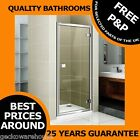 900mm DELUXE HINGE SHOWER DOOR ENCLOSURE/CUBICLE, CHROME FRAME AND HANDLE