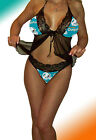 Miami Dolphins Lace Babydoll Negligee Lingerie - XL to 2X - PlS READ SIZING